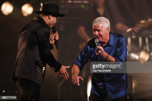 Guy Sebastian and Daryl Braithwaite perform on stage during the 31st Annual ARIA Awards 2017 at The Star on November 28 2017 in Sydney Australia
