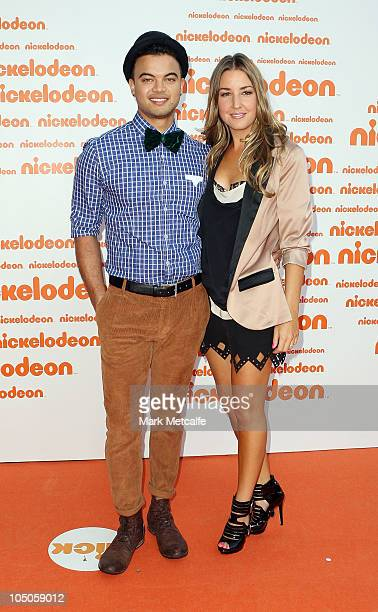 Guy Sebastian and his wife Jules Egan arrive for the Australian Nickelodeon Kids' Choice Awards 2010 at the Sydney Entertainment Centre on October 8...