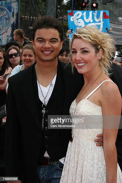 Guy Sebastian and Jules Egan at the Australian Idol Grand Final November 26 2006 at Sydney Opera House in Sydney NSW