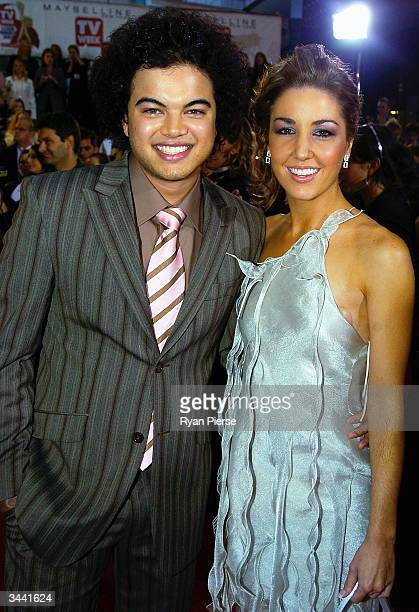 Guy Sebastian and Jules Egan attends the 46th Annual TV Week Logie Awards at the Crown Entertainment Complex April 18 2004 in Melbourne Australia