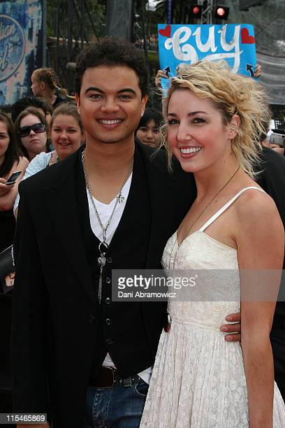 Guy Sebastian and Jules Egan during Australian Idol Grand Final November 26 2006 at Sydney Opera House in Sydney NSW Australia