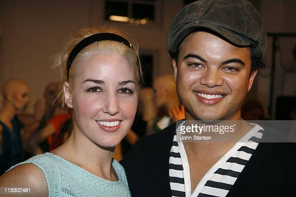 Guy Sebastian and Jules Egan during Myer Fashion and Installation Party May 30 2006 at Myer Store in Sydney NSW Australia