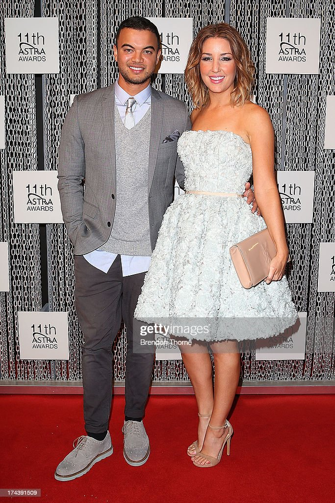 Guy Sebastian and Jules Sebastian arrives at the 11th Annual ASTRA Awards at the Sydney Theatre on July 25, 2013 in Sydney, Australia.