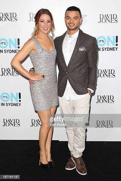 Guy Sebastian and wife Jules Egan arrive at the 26th Annual ARIA Awards 2012 at the Sydney Entertainment Centre on November 29 2012 in Sydney...