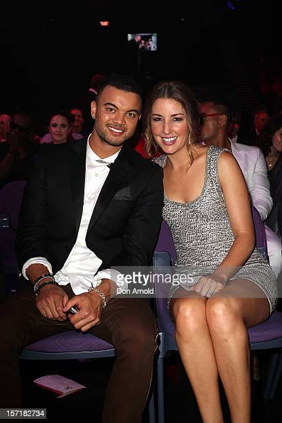 Guy Sebastian and wife Jules Egan pose during the 26th Annual ARIA Awards 2012 at the Sydney Entertainment Centre on November 29 2012 in Sydney...