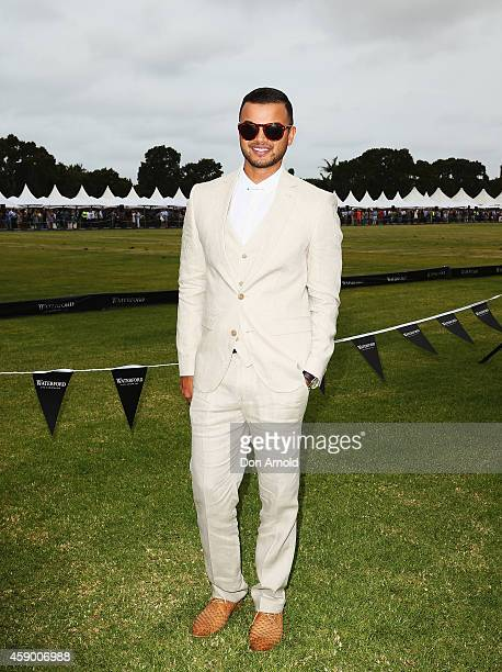 Guy Sebastian arrives at the Land Rover Polo Club Marquee at Centennial Park on November 15 2014 in Sydney Australia Land Rover celebrates its third...