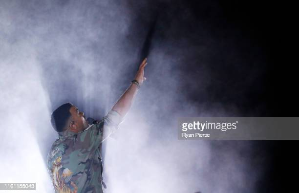 Guy Sebastian performs before game three of the 2019 State of Origin series between the New South Wales Blues and the Queensland Maroons at ANZ...
