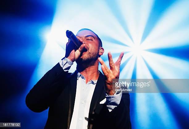 Guy Sebastian performs live at the Beresford Hotel Surry Hills on September 25 2013 in Sydney Australia