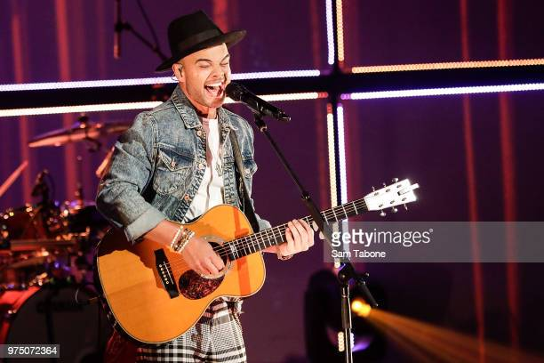 Guy Sebastian performs on stage a Frankston Arts Centre on June 15, 2018 in Melbourne, Australia.
