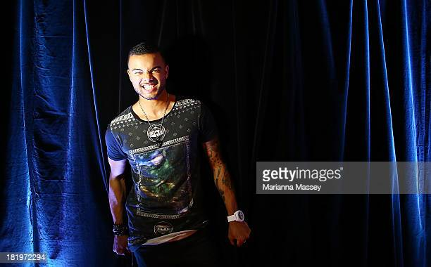 Guy Sebastian poses poses for a portrait ahead of the Nickelodeon Slimefest 2013 matinee show at Sydney Olympic Park Sports Centre on September 27...