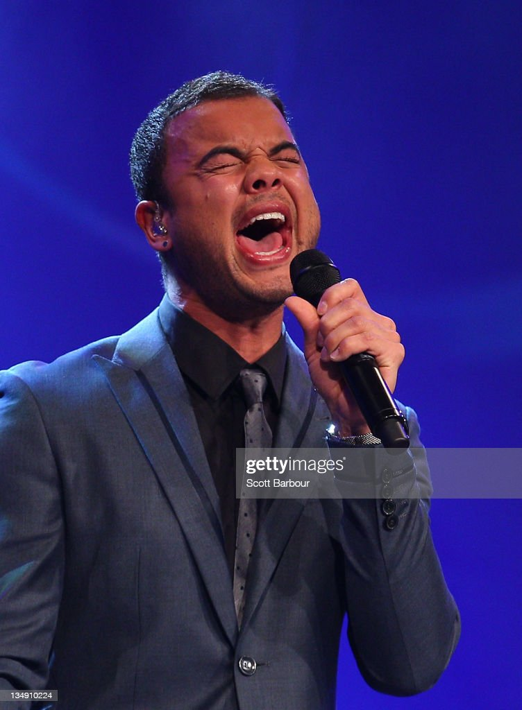 Guy Sebastian sings during the 2011 Newcombe Medal at Crown Palladium on December 5, 2011 in Melbourne, Australia.