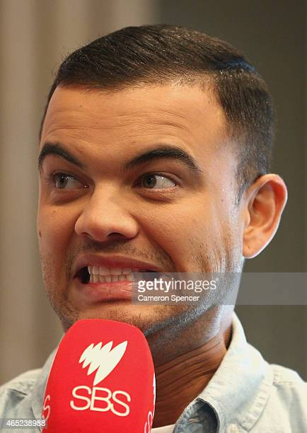 Guy Sebastian talks about being selected as the Australian representative in the 2015 Eurovision Song Contest at the Sydney Opera House on March 5...