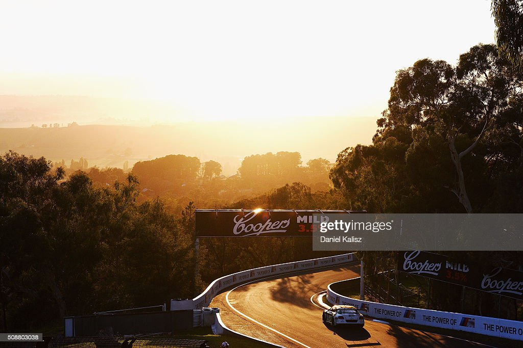 Guy Smith drives the #10 Mobil 1, Naim Audio & Breitling Bentley Continentail GT3 during the Bathurst 12 Hour Race at Mount Panorama on February 7, 2016 in Bathurst, Australia.
