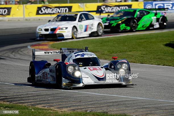 Guy Smith of England drives of the Dyson Racing Lola Mazda and captures the overall victory with codriver Chris Dyson during the American Le Mans...