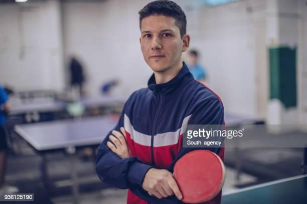 男の卓球プレーヤー - チームジャージ ストックフォトと画像