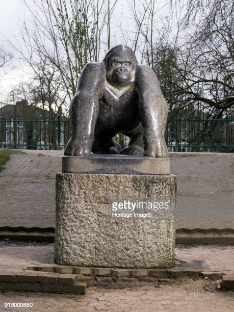 'Guy The Gorilla' sculpture by David Wynne Crystal Palace Park Sydenham London 2016