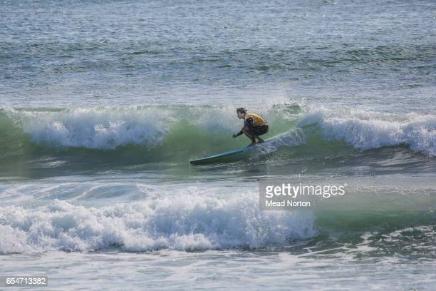 Guy Thompson surfing during 2017 Salt Circus on March 18 2017 in Mount Maunganui New Zealand