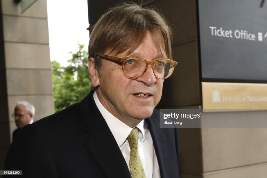 Brexit Negotiator Guy Verhofstadt Attends UK's EU Withdrawal Session