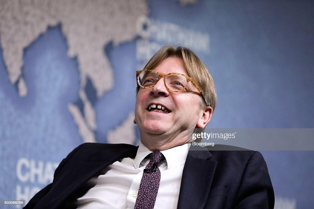 Brexit Negotiator Guy Verhofstadt Delivers Chatham House Speech