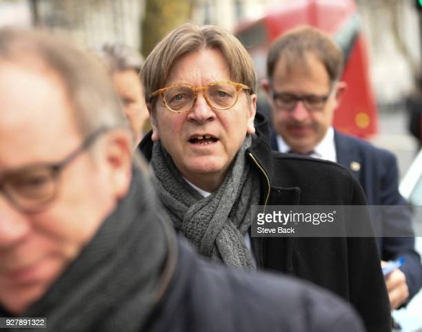 Guy Verhofstadt Member of the European Parliament arrives at Downing Street for a meeting with Brexit staff and later in the day The Prime Minister...