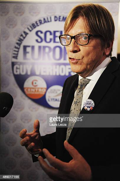 Guy Verhofstadt one of the candidate for the European Commission's Presidency speaks during The State of Union conference on May 9 2014 in Florence...