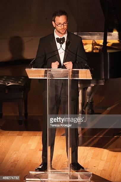 Guy Vidra, CEO of The New Republic, speaks on stage at the New Republic Centennial Gala at the Andrew W. Mellon Auditorium on November 19, 2014 in...