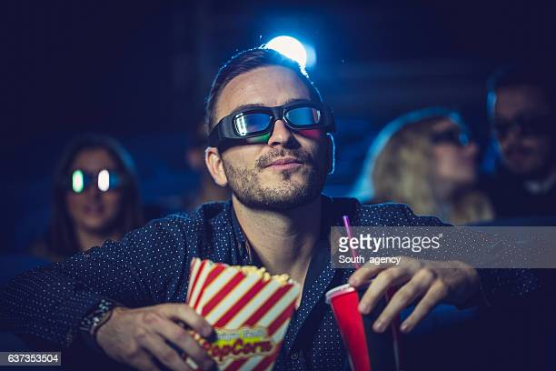 Guy watching a movie