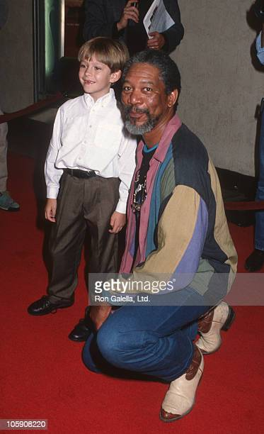Guy Witcher and Morgan Freeman during The Power of One Premiere March 24 1992 at Mann's Bruin Theater in Westwood California United States