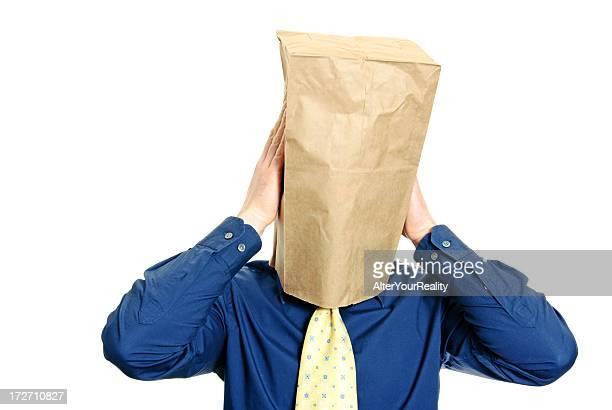 Guy con una bolsa de papel serie