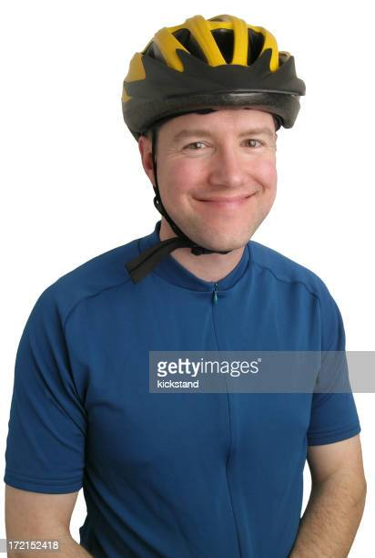 Guy with bicycle gear