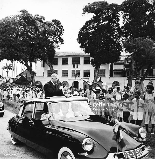 Guyana Cayenne Arrival Of General De Gaulle On April 30Th 1960