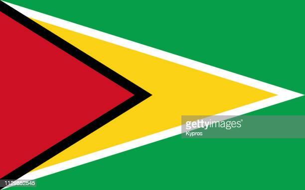 guyana flag - guyana imagens e fotografias de stock