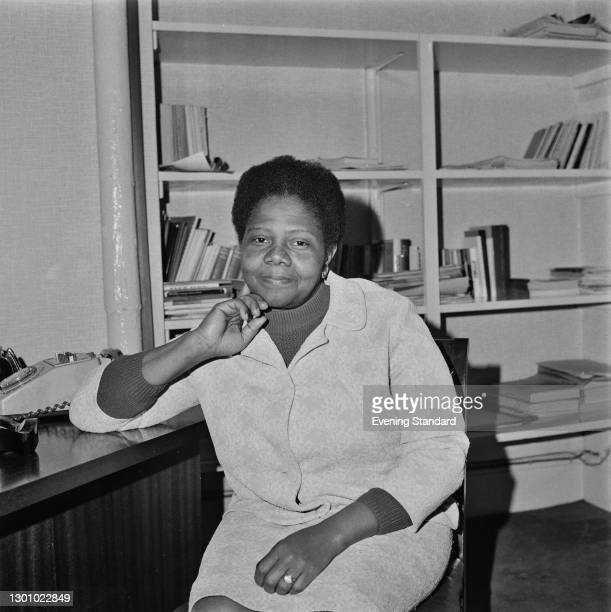 Guyana-born British community worker Sybil Phoenix shortly after being awarded an MBE, UK, 29th May 1973. She was the first Black woman to receive...