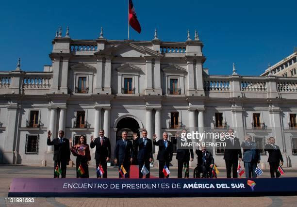 Guyana's Ambassador to Chile George Talbot Bolivia's Foreign Relations Vice Minister Carmen Almendra Paraguay's President Mario Abdo Benitez...