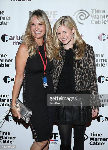 G Guyer and Ana MulvoyTen attend a screening of Ur In Analysis during NYTVF at Helen Mills Theater on October 19 2015 in New York City