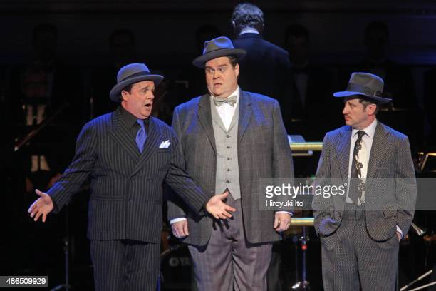 Guys and Dolls at Carnegie Hall on Thursday night April 3 2014This imageFrom left Nathan Lane John Treacy Egan and Christopher Fitzgerald