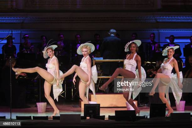 Guys and Dolls at Carnegie Hall on Thursday night April 3 2014This imageFrom left Samantha Sturm Paloma GarciaLee Jenny LaRoche and Katie Webber