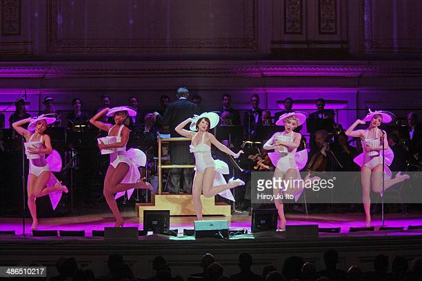 Guys and Dolls at Carnegie Hall on Thursday night April 3 2014This imageMegan Mullally center with from left Katie Webber Jenny LaRoche Paloma...