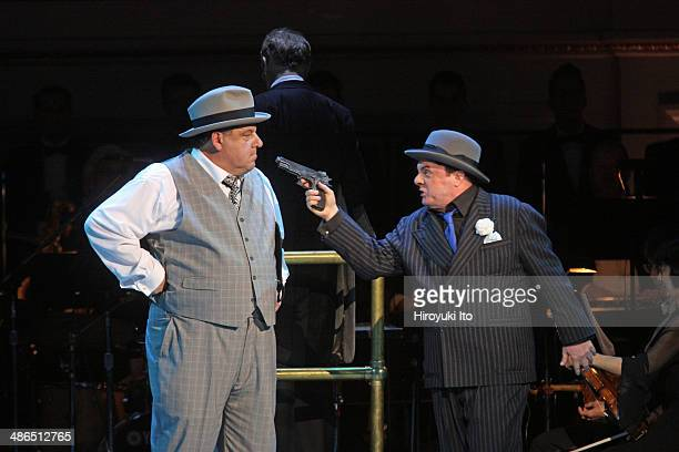 Guys and Dolls at Carnegie Hall on Thursday night April 3 2014This imageSteve Schirripa left and Nathan Lane
