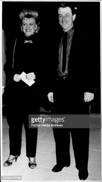 """Guys and dolls opening at """"Her Majesty Theatre"""" Nancy Hayes & Peter Adams. May 13, 1986. ."""
