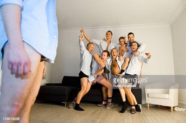 Guys are having a meeting in their Secret society, Denmark