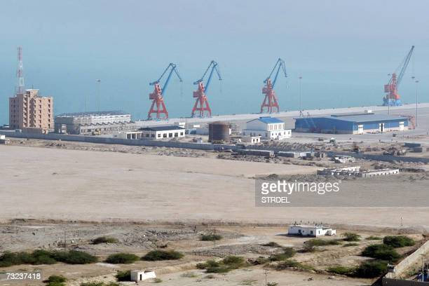 this picture taken 06 February 2007 shows a view of the Beijingfunded 'megaport' of Gwadar in southwestern Pakistan Singapore's stateowned PSA...