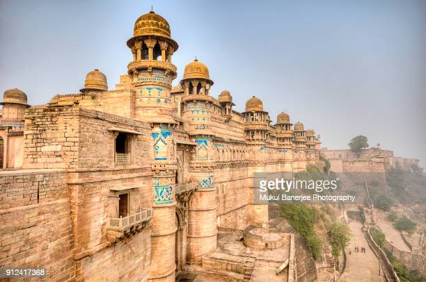 gwalior fort is an hill fort near gwalior, madhya pradesh, india - madhya pradesh stock pictures, royalty-free photos & images