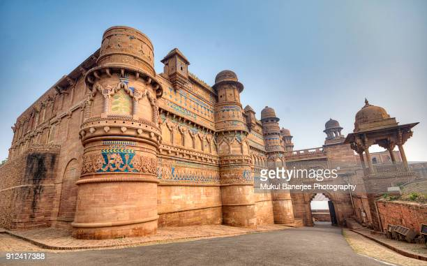 gwalior fort is an hill fort near gwalior, madhya pradesh, india - monument stock pictures, royalty-free photos & images