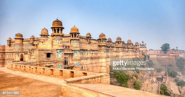 gwalior fort is an hill fort near gwalior, madhya pradesh, india - east stock photos and pictures