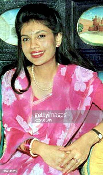 This undated photograph from 1993 shows Devyani Rana posing in Gwalior central India Rana once the girlfriend of Nepal's crown prince Dipendra who...