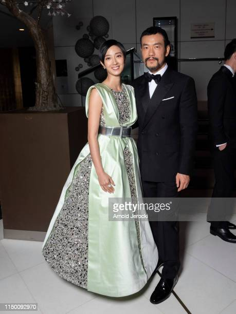Gwei Lun Mei and Liao Fan are seen at the Mariott hotel during the 72nd annual Cannes Film Festival on May 18, 2019 in Cannes, France.