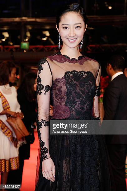 Gwei Lun Mei arrives for the closing ceremony during 64th Berlinale International Film Festival at Berlinale Palast on February 15 2014 in Berlin...