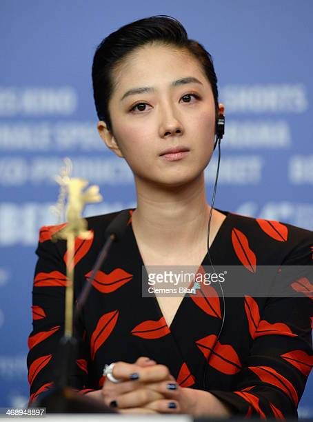 Gwei Lun Mei attends the 'Black Coal Thin Ice' press conference during 64th Berlinale International Film Festival at Grand Hyatt Hotel on February 12...