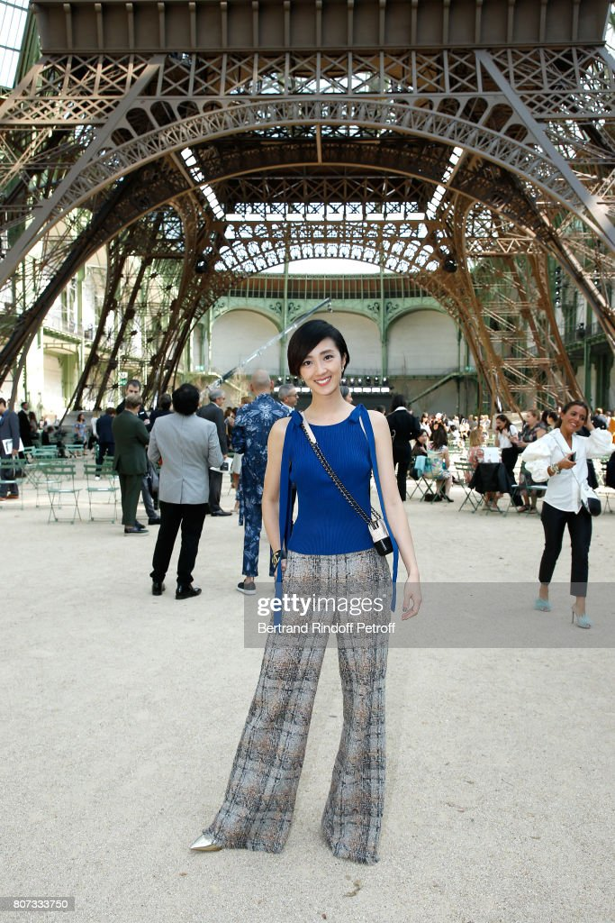 Chanel : Front Row - Paris Fashion Week - Haute Couture Fall/Winter 2017-2018